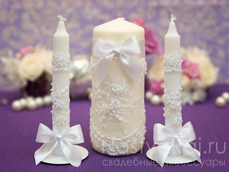 Декор свечи на свадьбу