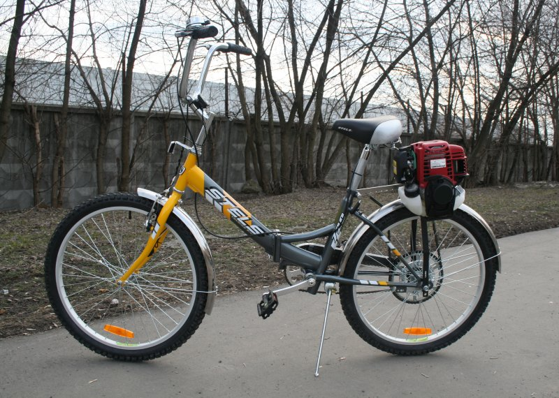 Велосипед двигателем своими руками фото