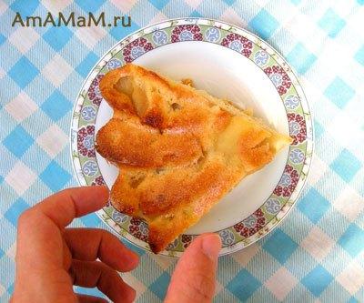 Пирог с яблоками без масла рецепт