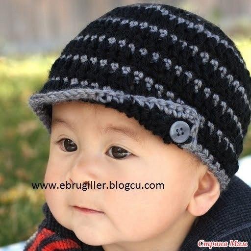 Как вязать шапочку мальчику спицами
