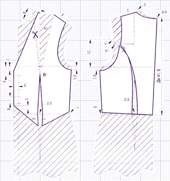 Как сделать выкройку кожаного жилета