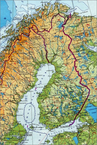 Где находится финляндия на карта