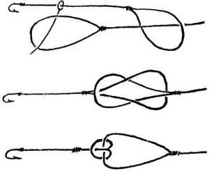 Как вязать рыболовные крючки петля в петлю