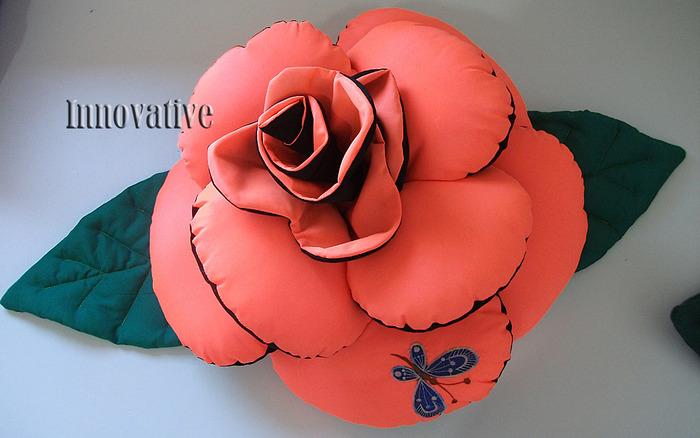 Сшить подушку розу своими руками