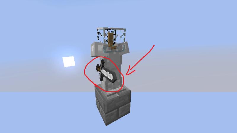 Майнкрафт как сделать стойку для брони с руками