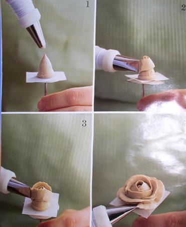 Розочки из крема на торт в домашних условиях пошагово