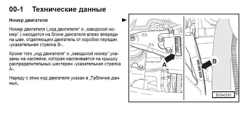 Где находится номер двигателя у шкоды октавия