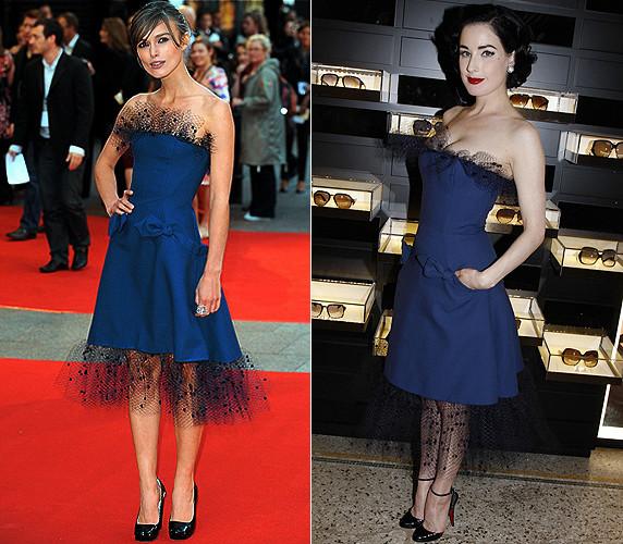 Губная помада под синее платье