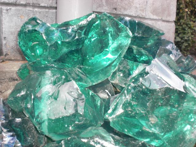 Как сделать камни из стекла 835