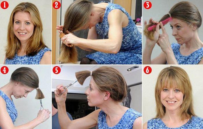 Как красиво уложить волосы средней длины в домашних условиях видео