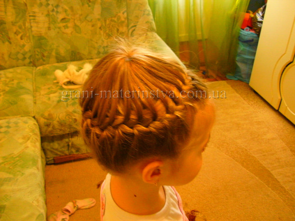 Причёски на длинные волосы для девочек корзинки