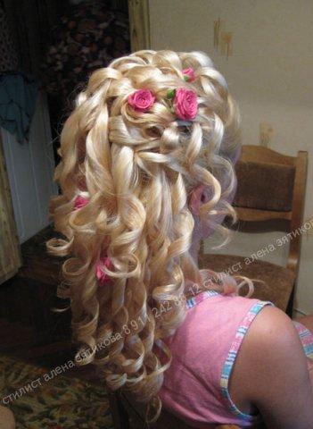 Прически из накрученных волос видео