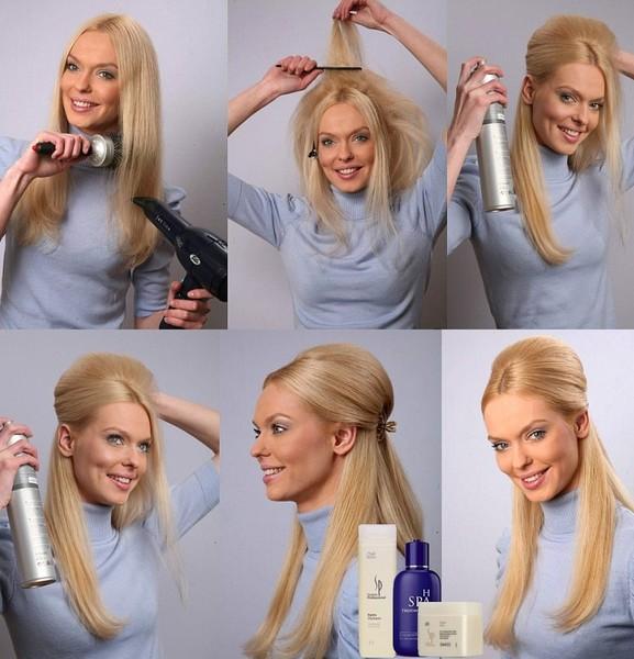 Укладка на средние волосы на каждый день фото пошагово