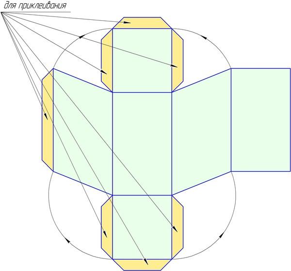 Как сделать параллелепипед поэтапно