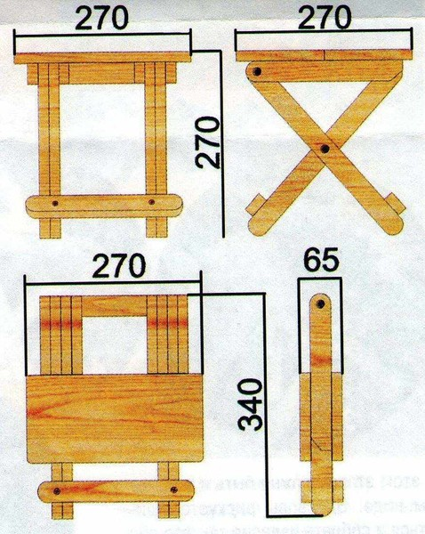 Раскладные стулья для пикника своими руками