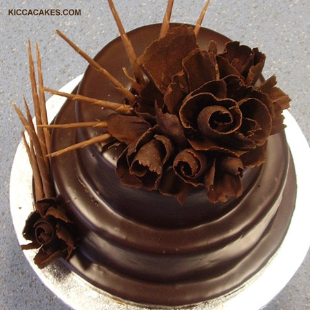 Шоколадные цветы рецепт с