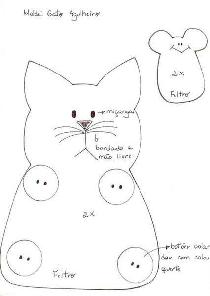 Игольницы кошки своими руками выкройки