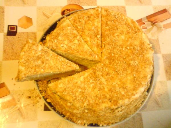 Торт наполеон из слоеного теста покупного