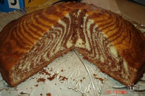 Торт зебра в домашних условиях без сметаны