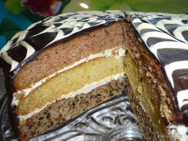 Рецепт торт три разных коржа
