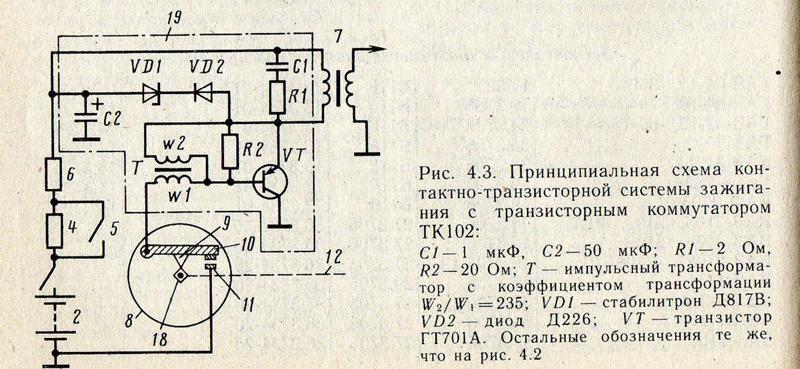 Электронные схемы с коммутатором тк-102