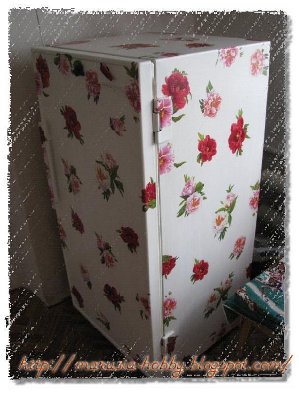 Декупаж холодильника мастер класс фото