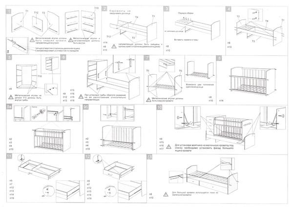 Кровать чунга чанга инструкция по сборке