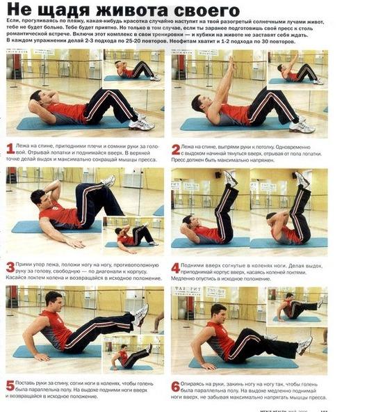 Как убрать жир с живота в домашних условиях девушке упражнения