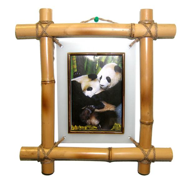 Своими руками фоторамку из бамбука 42