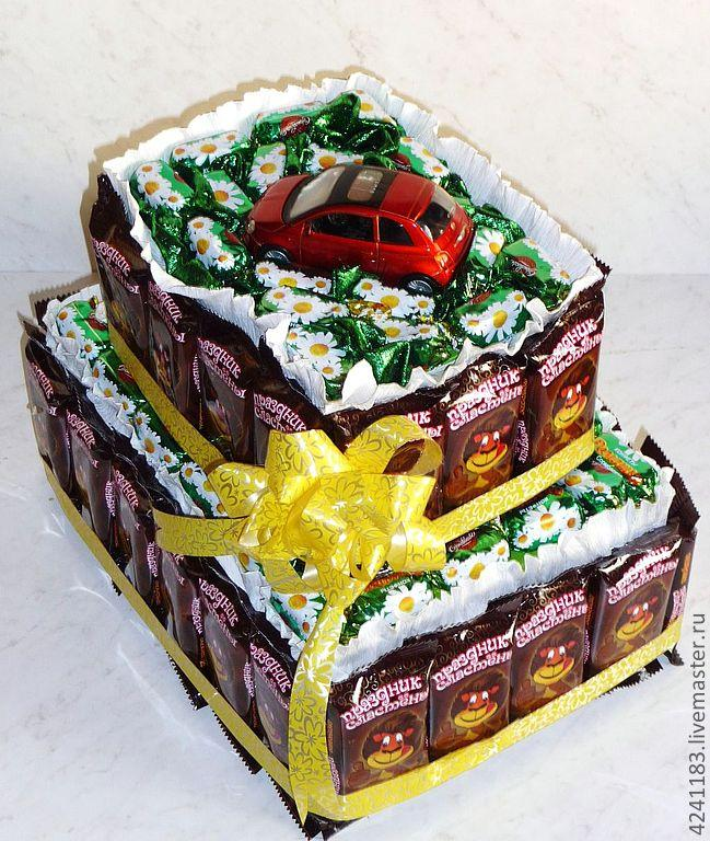 Торт в виде шоколадки своими руками 10