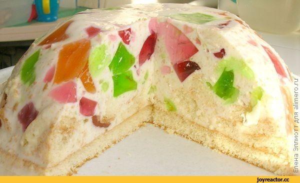 Торт без выпечки битое стекло с фото