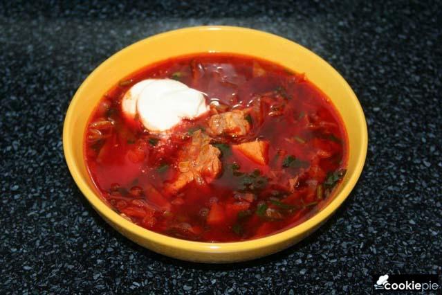 Суп свекольник горячий рецепт с фото пошагово