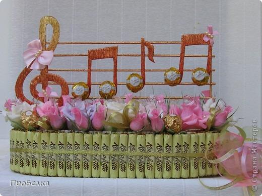 Скрипичный ключ из конфет мастер класс - Walton