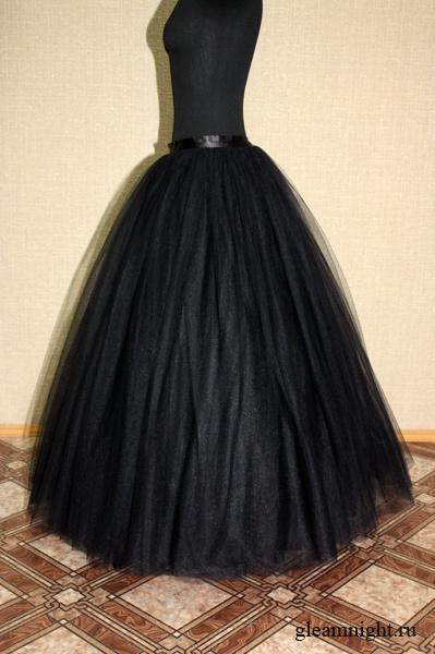 выкройка длинной юбки с воланами: