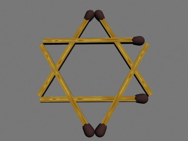 Как из 6 спичек сделать 4 равносторонних  139