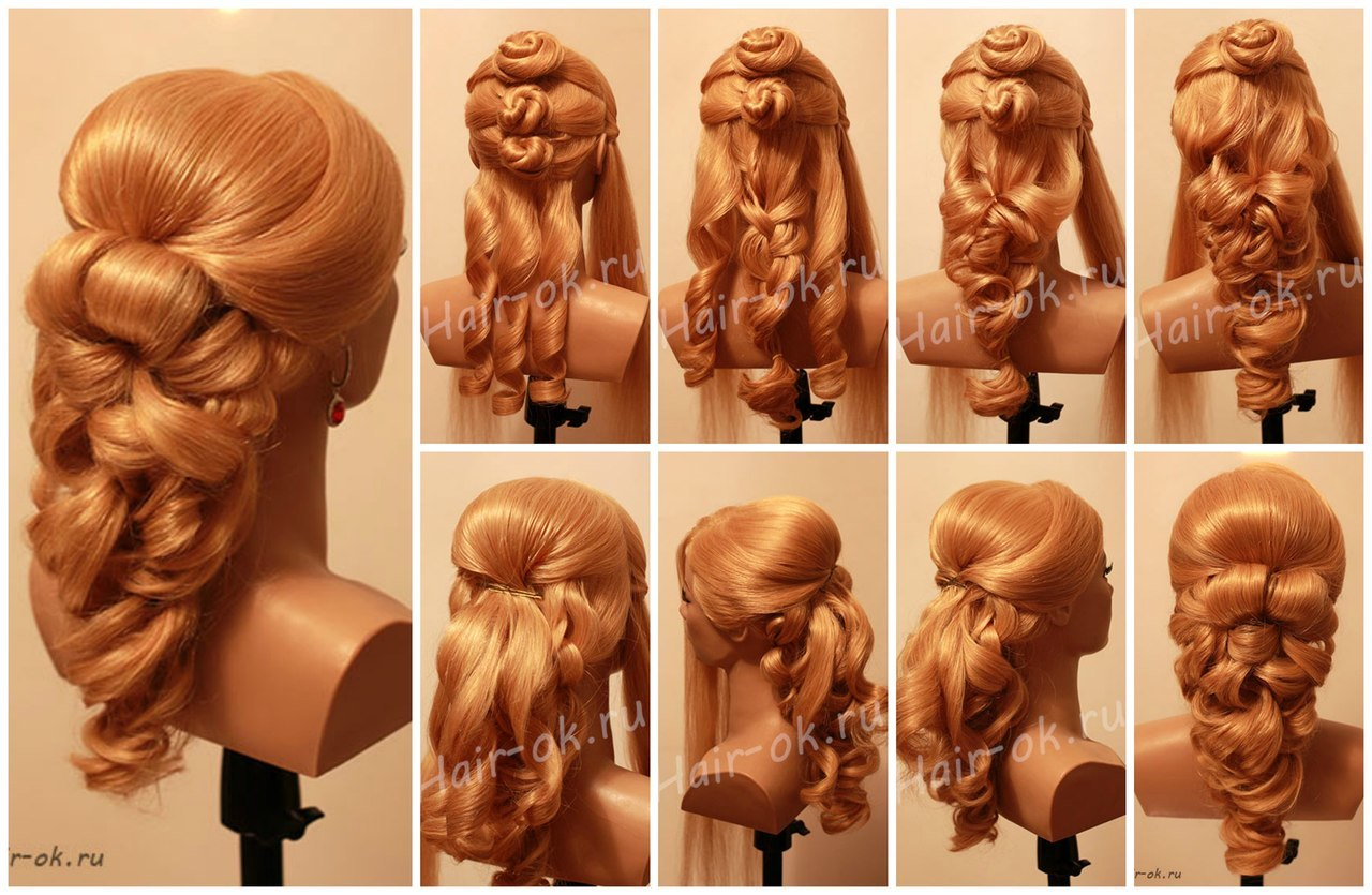 Укладки для длинных волос с пошаговым фото