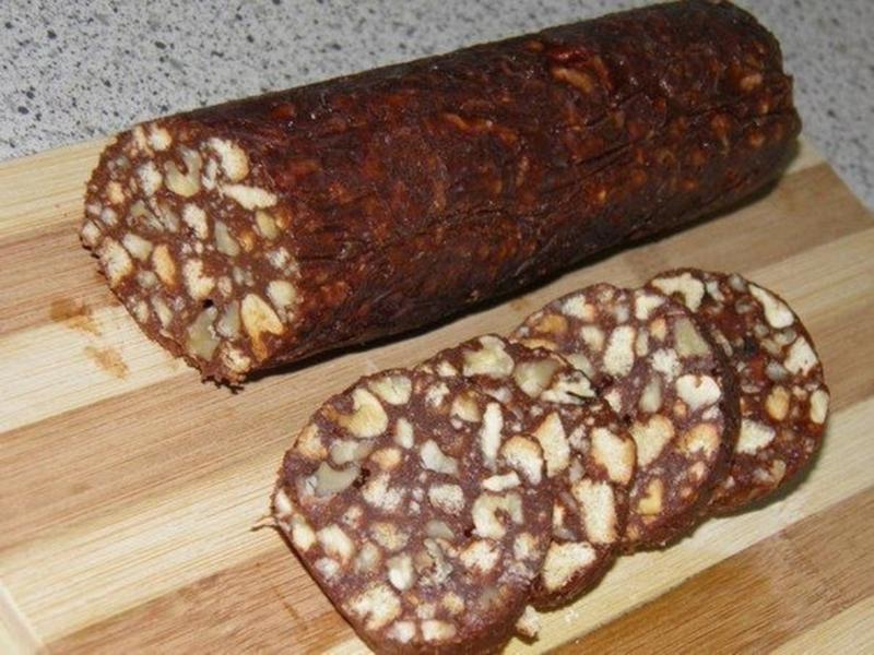 Как сделать шоколадную колбас