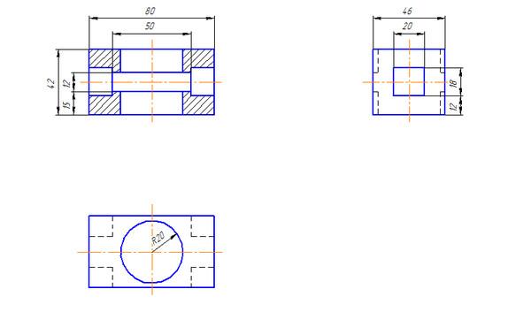 Ответы@Mail.Ru: Как построить разрез на двух остальных видах?