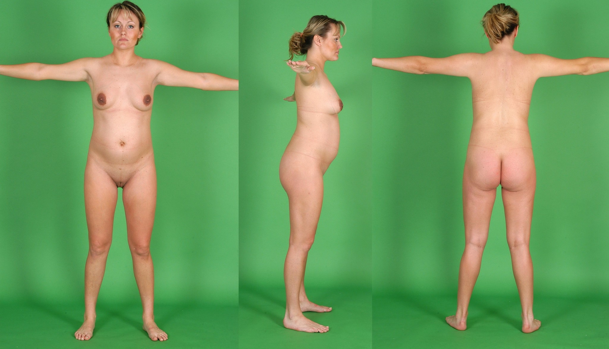 Nude models with primordal dwarfism exploited clip
