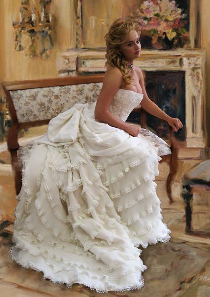 Свадебные платья конца 19 века