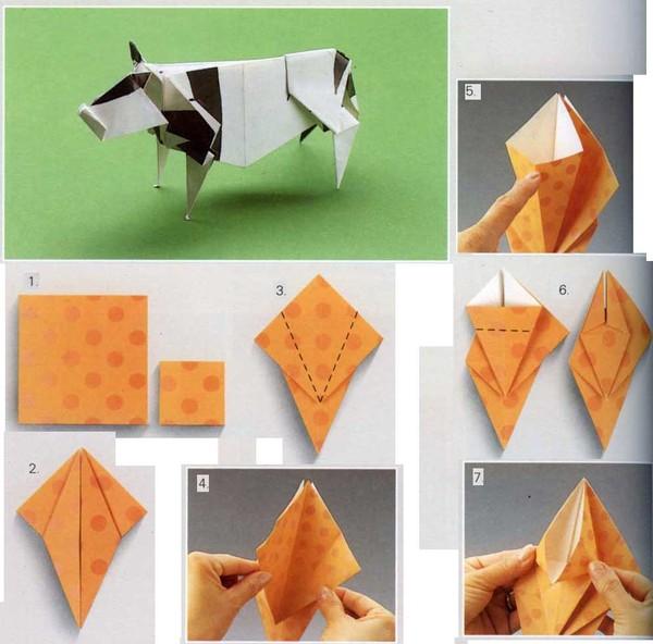 Поделки из бумаги оригами без клея