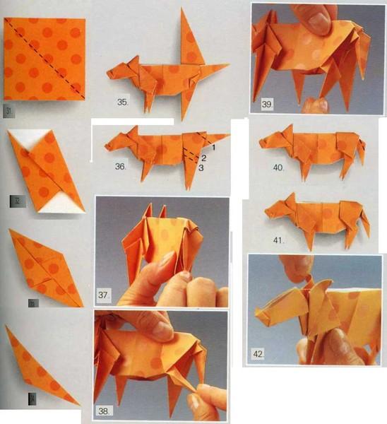 Как сделать из бумаги животных не оригами 302