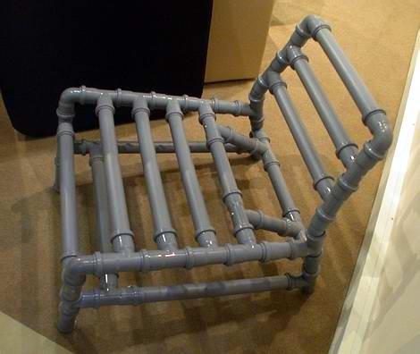 Мебель своими руками из труб пвх своими руками