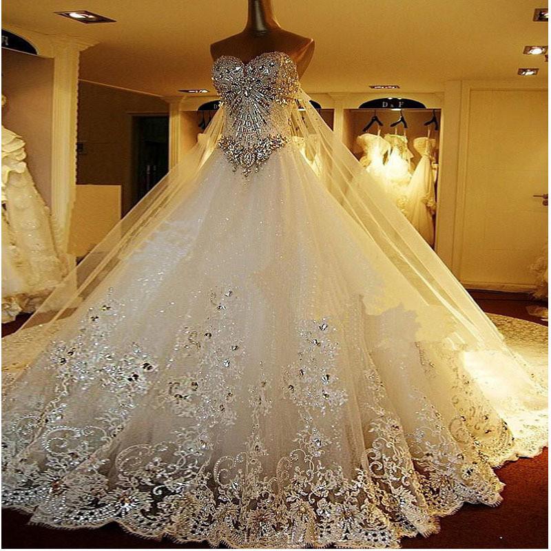 Свадебные очень платья пышные со шлейфом