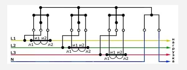 Схема соединение трансформаторов тока