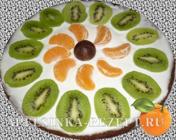 Рецепт очень вкусного торта с фруктами