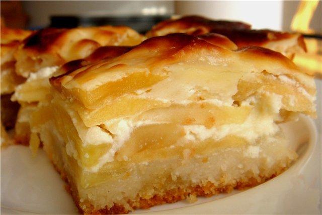 Заливной пирог с яблоками со сметаной рецепт пошагово в духовке