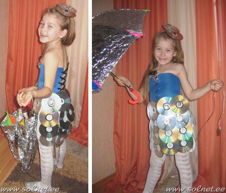 Платья из диска своими руками на конкурс