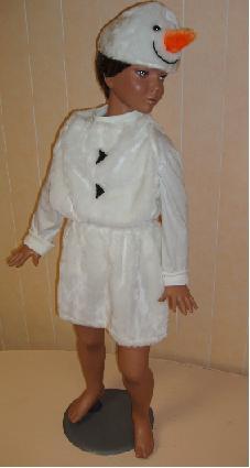 Как сшить костюм снеговика из синтепона