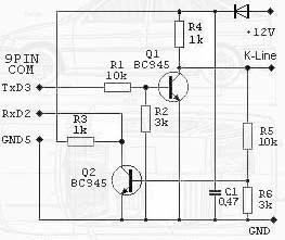K-line адаптер com порт